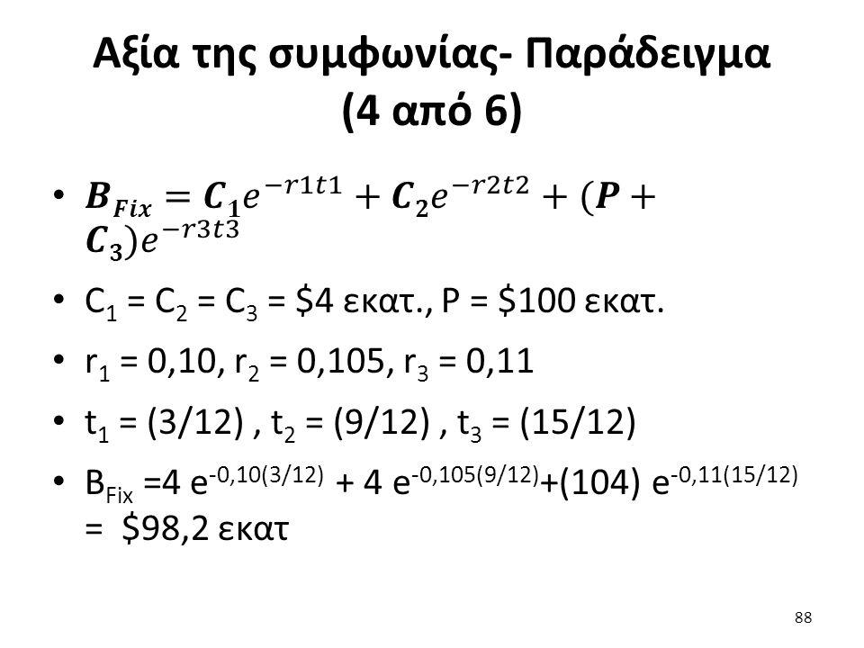 Αξία της συμφωνίας- Παράδειγμα (4 από 6) 88