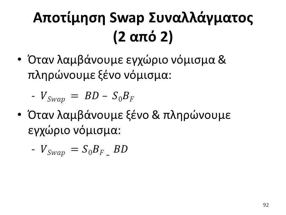 Αποτίμηση Swap Συναλλάγματος (2 από 2) 92
