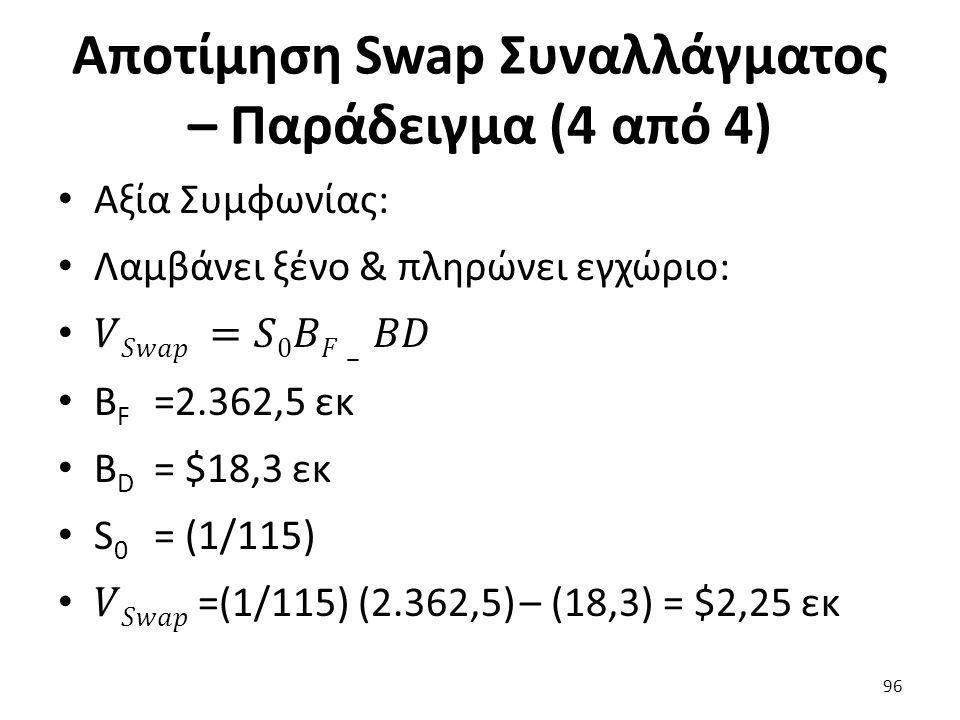 Αποτίμηση Swap Συναλλάγματος – Παράδειγμα (4 από 4) 96