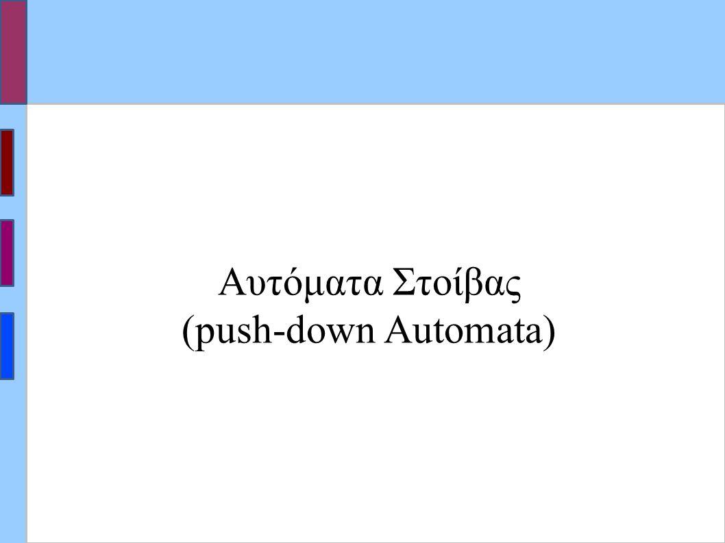 Αυτόματα Στοίβας (push-down Automata)