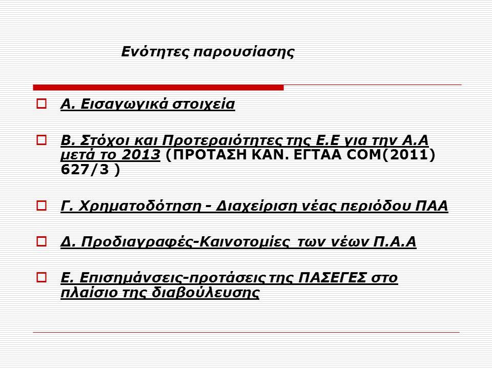 Ενότητες παρουσίασης  Α. Εισαγωγικά στοιχεία  Β.