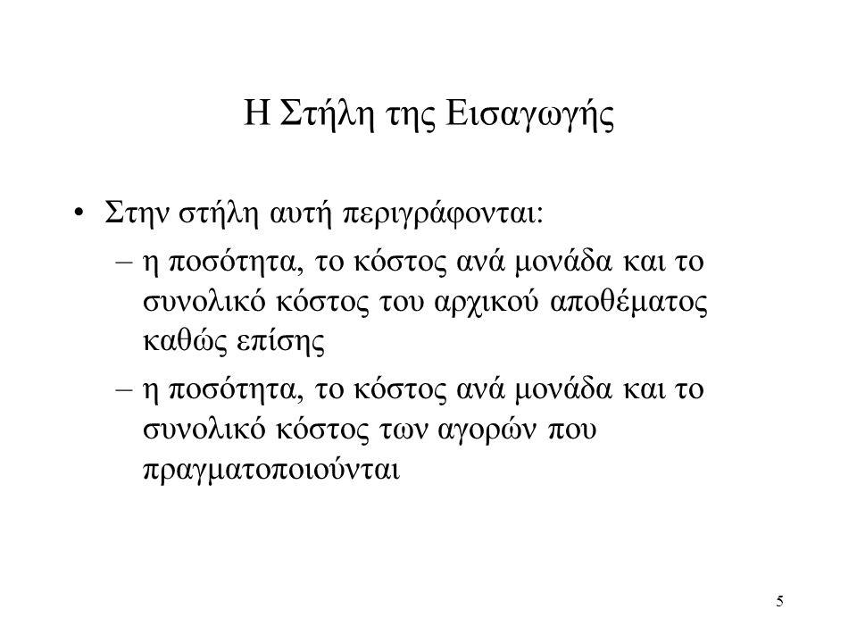 36 Η Μέθοδος L.I.F.O.