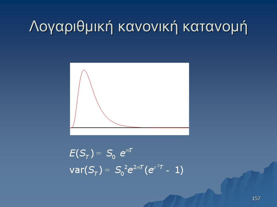 Λογαριθμική κανονική κατανομή 157