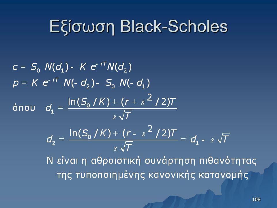 Εξίσωση Black-Scholes 168