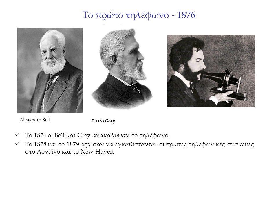 Το πρώτο τηλέφωνο - 1876 To 1876 οι Bell και Grey ανακάλυψαν το τηλέφωνο.