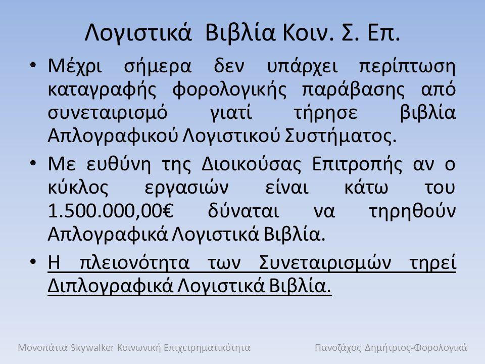 Φ.Π.Α.Οι Κοιν. Σ. Επ. δεν εξαιρούνται από τον Ν.2859/2000 περί Φ.Π.Α.