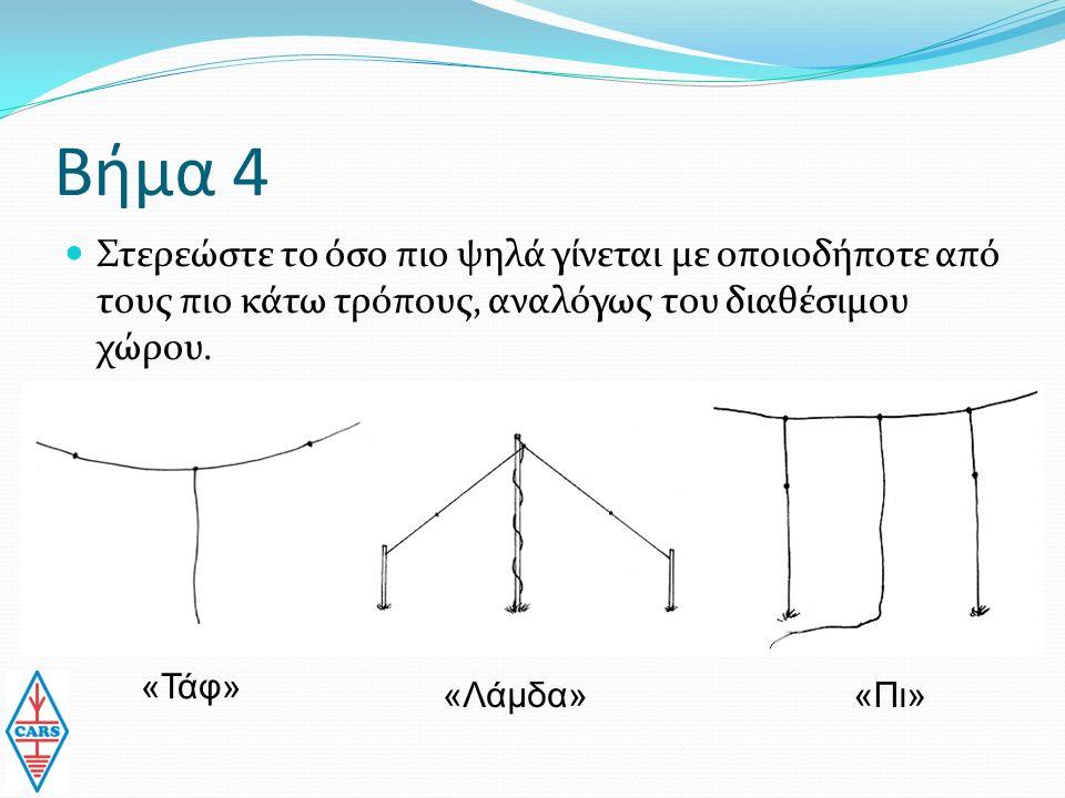 Βήμα 4 Στερεώστε το όσο πιο ψηλά γίνεται με οποιοδήποτε από τους πιο κάτω τρόπους, αναλόγως του διαθέσιμου χώρου.