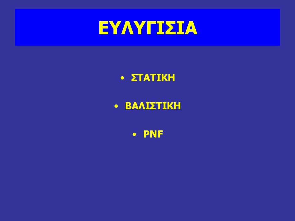 ΕΥΛΥΓΙΣΙΑ ΣΤΑΤΙΚΗ ΒΑΛΙΣΤΙΚΗ PNF