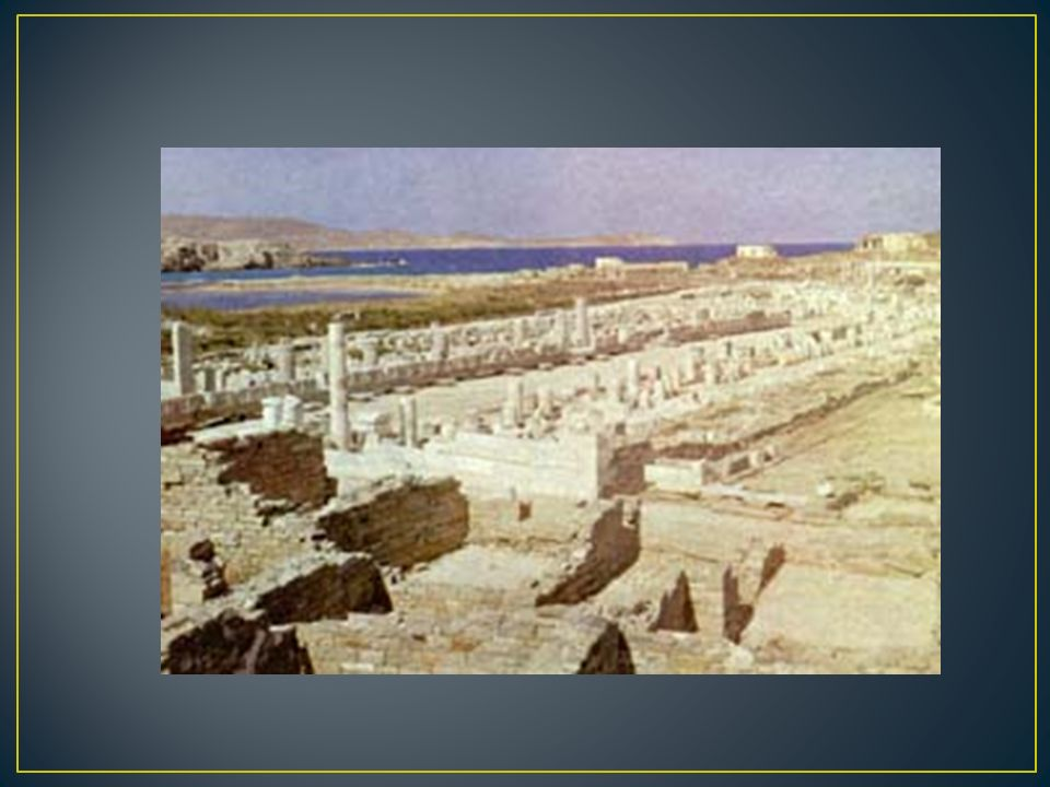 Ο λόκληρο το νησί είναι ένας αρχαιολογικός χώρος που μπορεί να χωριστεί σε ομάδες μνημείων : Το ιερό του Απόλλωνα.
