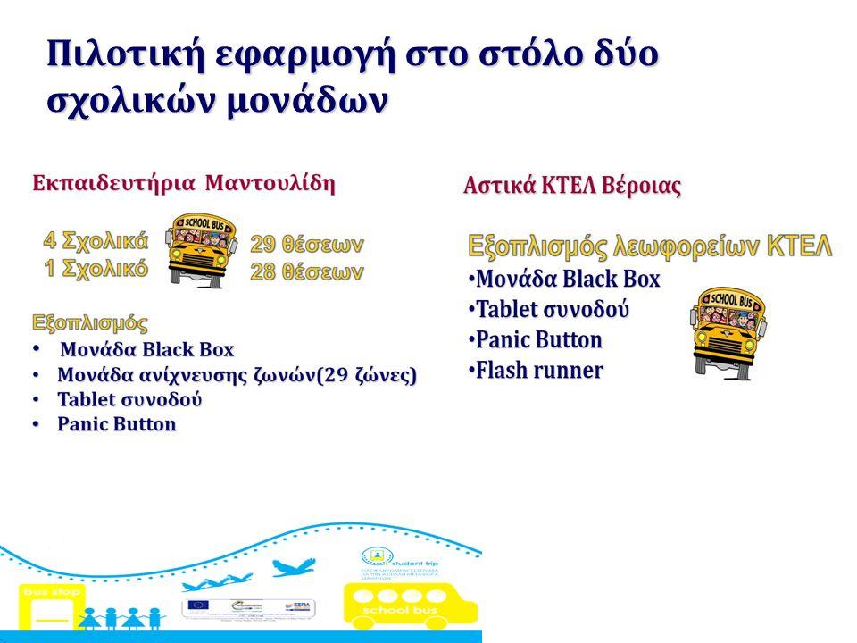 Πιλοτική εφαρμογή στο στόλο δύο σχολικών μονάδων