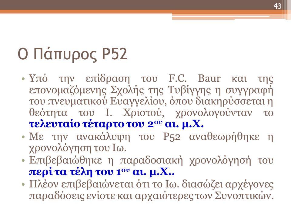 Ο Πάπυρος P52 Υπό την επίδραση του F.C.