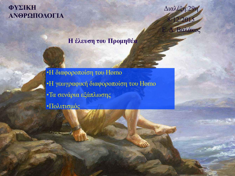 Η διαφοροποίηση του Homo Η ανακάλυψη Μεταξύ των 1,8 και 0,3 mya το αρχείο των απολιθωμάτων του Homo γίνεται πολύπλοκο Ένα ή περισσότερα είδη; Ποικιλομορφία; Η μεγάλη εξάπλωση του είδους δημιουργεί αντιθέσεις για την ταξινομική κατάσταση του είδους Τρεις προσεγγίσεις Όλα τα μέλη του γένους Homo που έζησαν 1,8 με 0,3 εκατομμύρια έτη πριν είναι ένα είδος (H.
