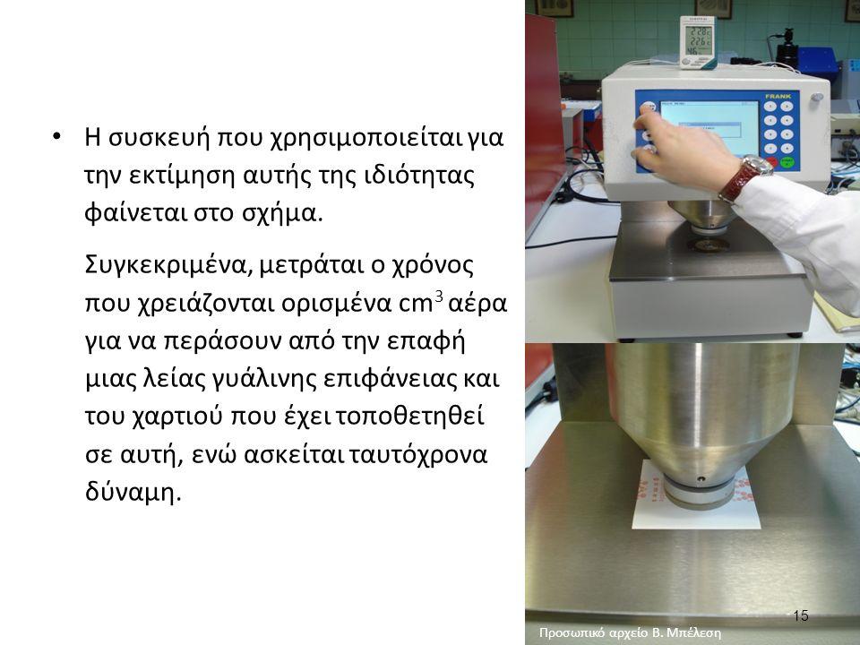 15 Η συσκευή που χρησιμοποιείται για την εκτίμηση αυτής της ιδιότητας φαίνεται στο σχήμα.