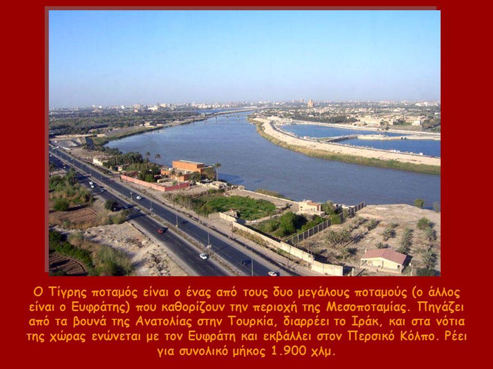 Ο Τίγρης ποταμός είναι ο ένας από τους δυο μεγάλους ποταμούς (ο άλλος είναι ο Ευφράτης) που καθορίζουν την περιοχή της Μεσοποταμίας.