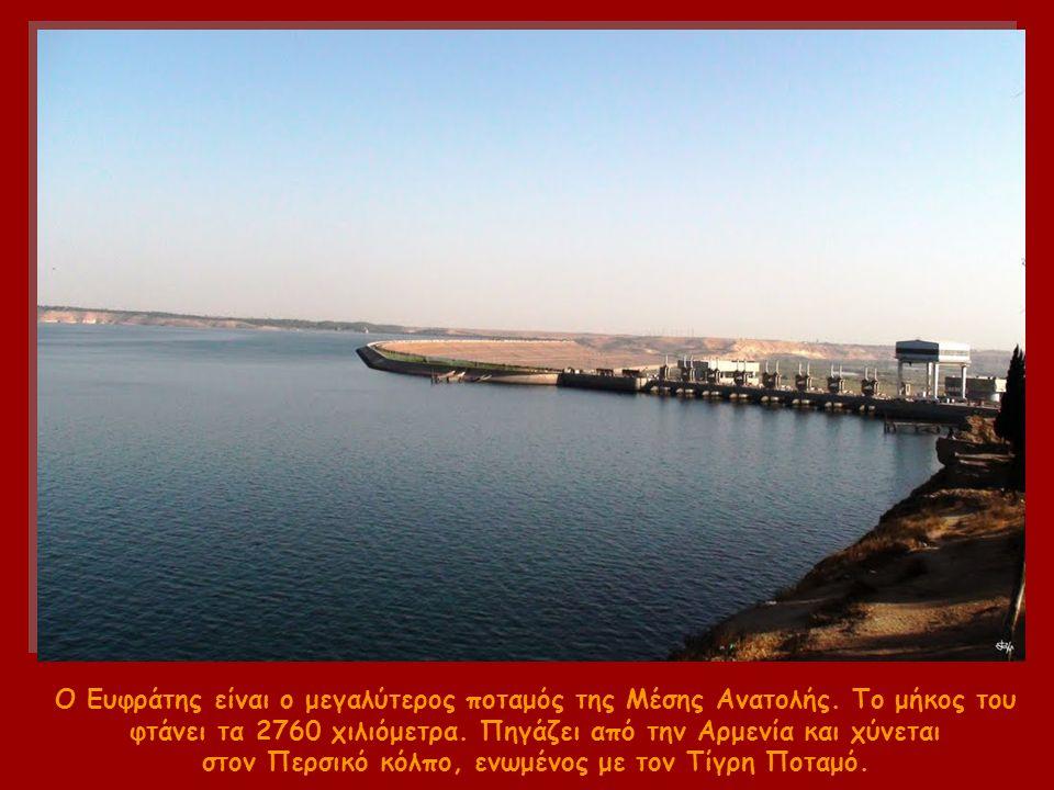Ο Ευφράτης είναι ο μεγαλύτερος ποταμός της Μέσης Ανατολής.