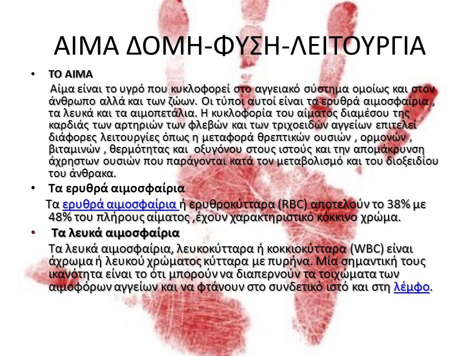 ΑΙΜΑΤΗΡΑ ΜΥΣΤΙΚΑ PROJECT Α΄ ΤΑΞΗΣ 2012-2013