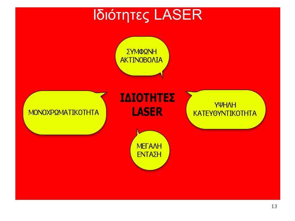 13 Ιδιότητες Ιδιότητες LASER