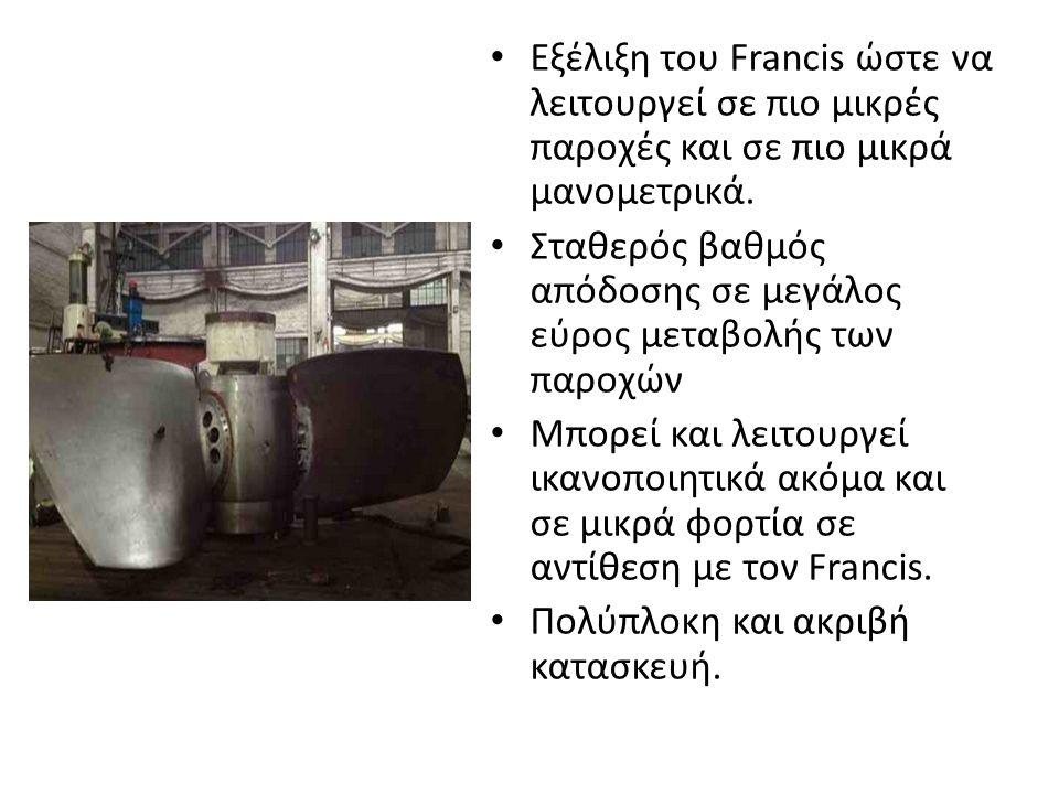 Εξέλιξη του Francis ώστε να λειτουργεί σε πιο μικρές παροχές και σε πιο μικρά μανομετρικά.