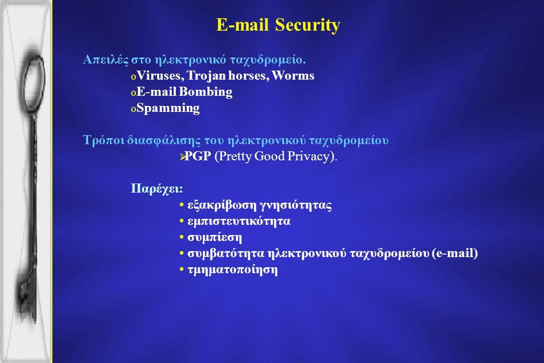 E-mail Security Απειλές στο ηλεκτρονικό ταχυδρομείο.