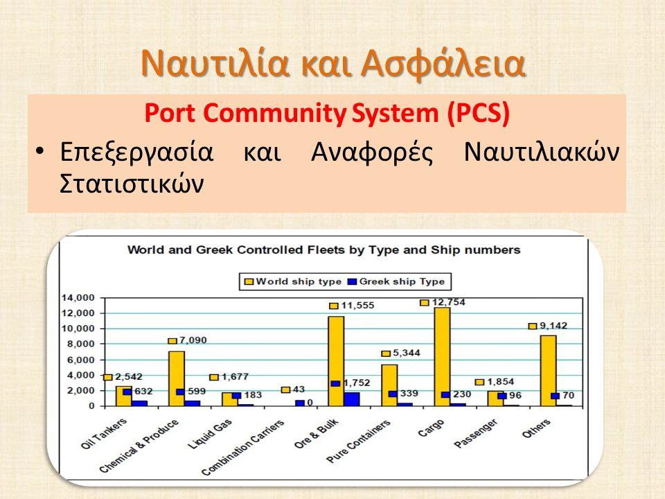 Ναυτιλία και Ασφάλεια Port Community System (PCS) Επεξεργασία και Αναφορές Ναυτιλιακών Στατιστικών