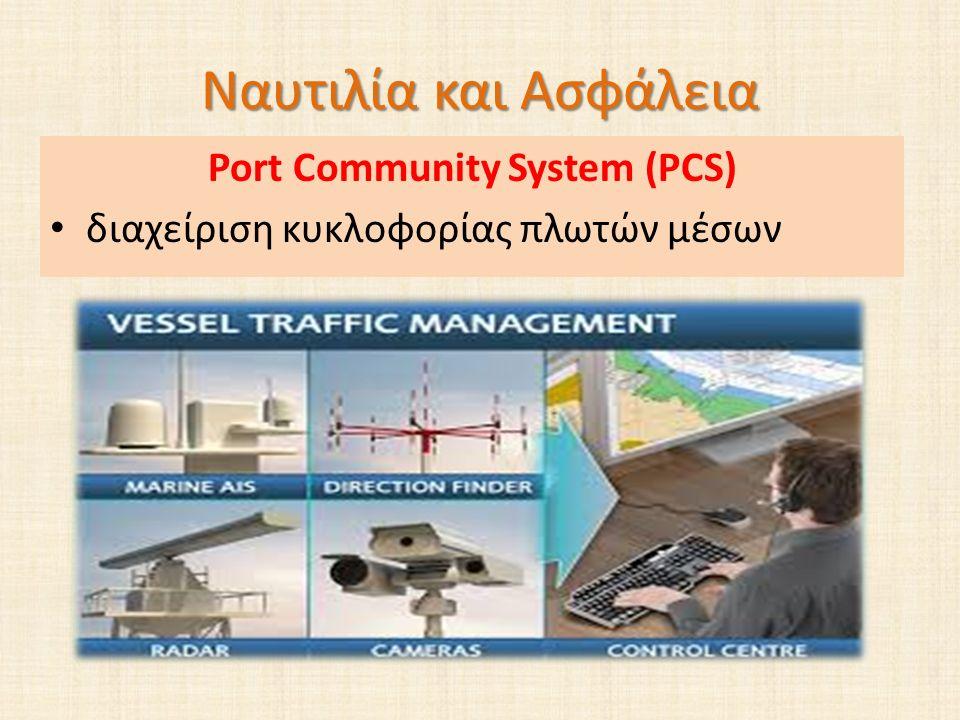 Ναυτιλία και Ασφάλεια Port Community System (PCS) διαχείριση κυκλοφορίας πλωτών μέσων