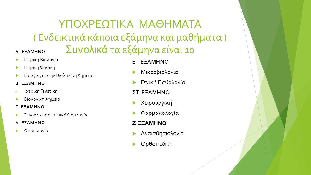 ΠΡΟΓΡΑΜΜΑ ΣΠΟΥΔΩΝ ( Για προπτυχιακές και μεταπτυχιακές σπουδές )  Πρόγραμμα Προπτυχιακών Σπουδών στην Ιατρική ( Πτυχίο 6 έτη φοίτησης)  Πρόγραμμα Μεταπτυχιακών Σπουδών στις Εφαρμογές των Βασικών Ιατρικών Επιστημών ( Διδακτορικό )  Διατμηματικό Π.Μ.Σ στην Ιατρική Φυσική ( Διδακτορικό )  Πρόγραμμα Μεταπτυχιακών Σπουδών στις Κλινικές και Κλινικοεργαστηριακες Ιατρικές ειδικότητες ( Διδακτορικό )  Μεταπτυχιακό Δίπλωμα στις Κυτταρικές – Μοριακές Νευροεπιστήμες  Μεταπτυχιακό Δίπλωμα στην Κυτταρική και Γενετική Αιτιολογία, Διαγνωστική και Θεραπευτική των Ασθενειών του Ανθρώπου.