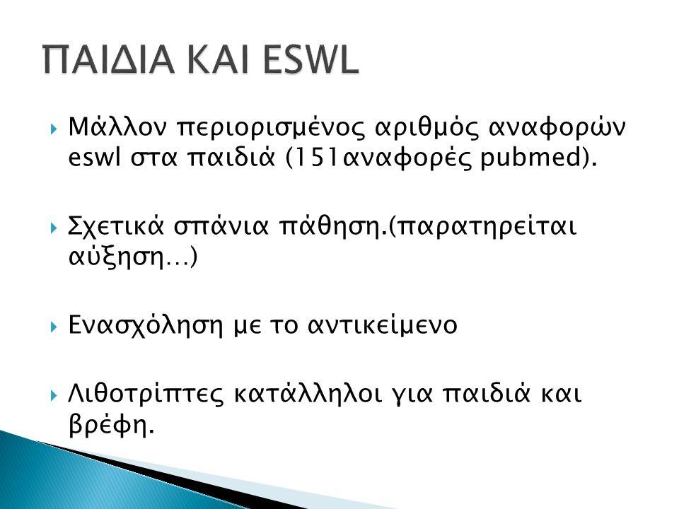  Ανατομικές ανωμαλίες συγγενείς ή επίκτητες επηρεάζουν την αποτελεσματικότητα της eswl.