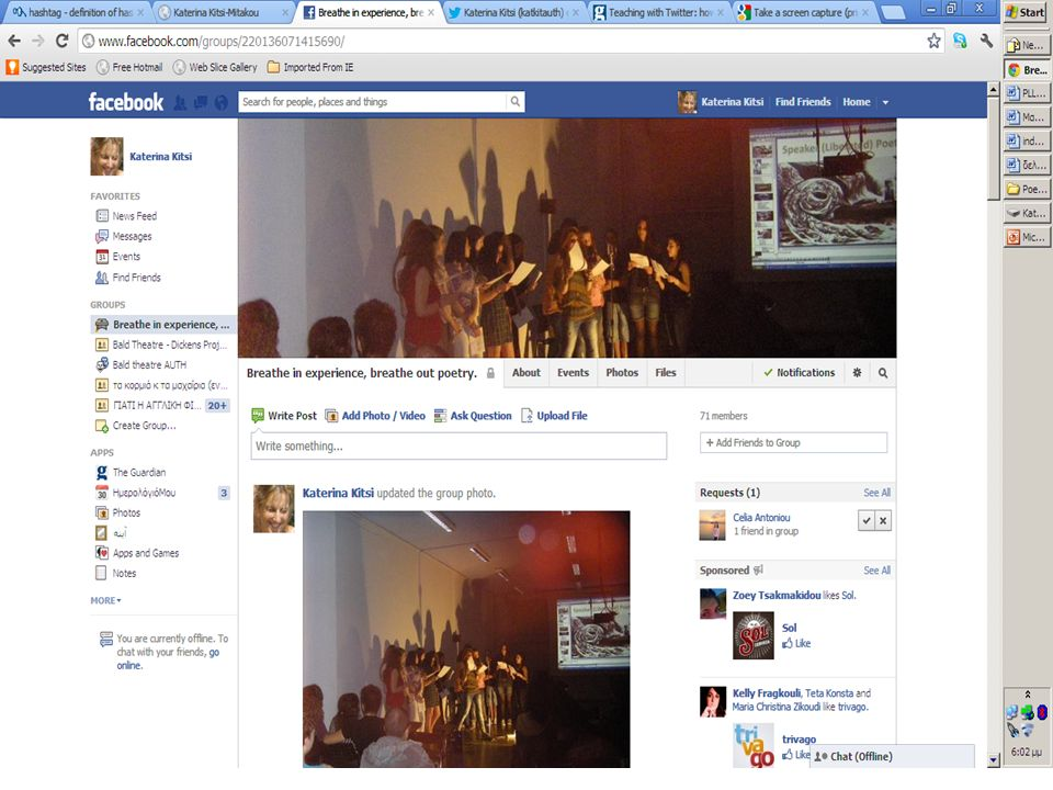 Facebook group http://www.facebook.com/groups/1547271779 82753/