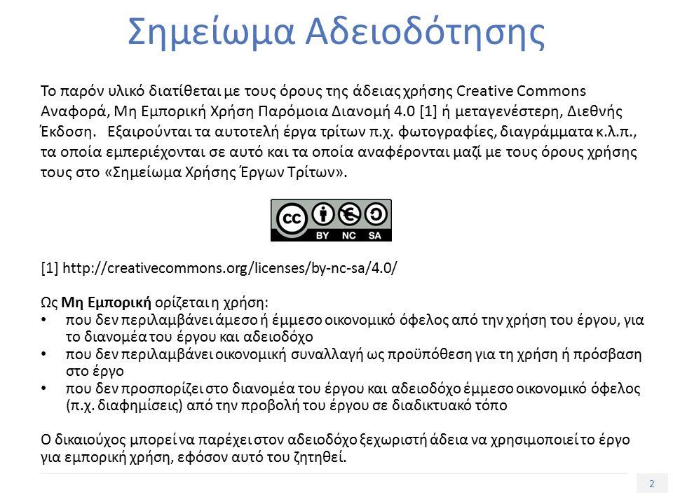 23 Τίτλος Ενότητας Σημείωμα Αναφοράς Copyright Πανεπιστήμιο Πατρών, Τμήμα Γεωλογίας, Κούκης και Σαμπατακάκης.