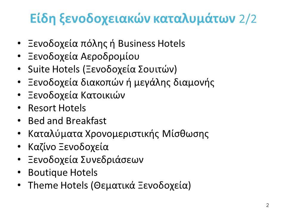 Ξενοδοχεία πόλης ή Business Hotels Αποτελούν την μεγαλύτερη κατηγορία ξενοδοχείων.