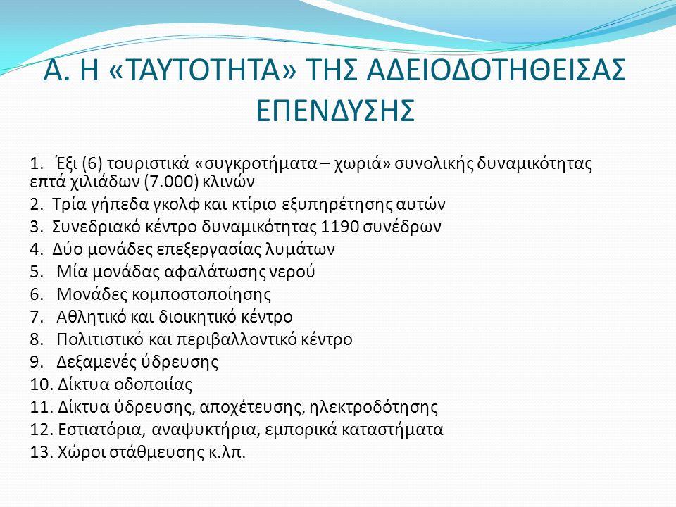 Α. Η «ΤΑΥΤΟΤΗΤΑ» ΤΗΣ ΑΔΕΙΟΔΟΤΗΘΕΙΣΑΣ ΕΠΕΝΔΥΣΗΣ 1.