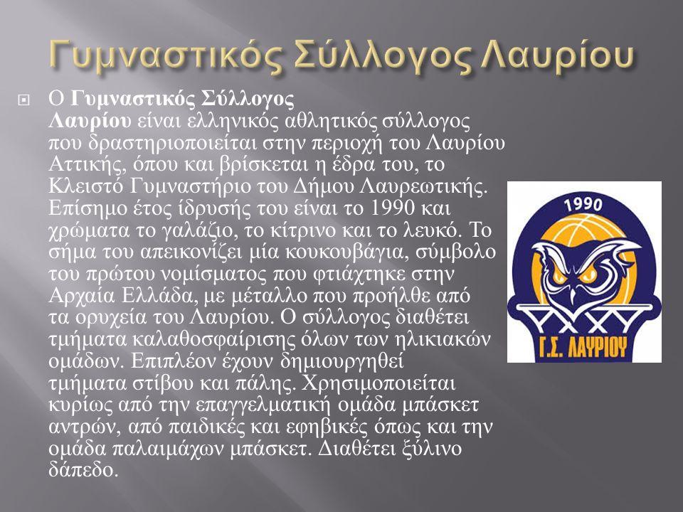  Ο Γυμναστικός Σύλλογος Λαυρίου είναι ελληνικός αθλητικός σύλλογος που δραστηριοποιείται στην περιοχή του Λαυρίου Αττικής, όπου και βρίσκεται η έδρα του, το Κλειστό Γυμναστήριο του Δήμου Λαυρεωτικής.