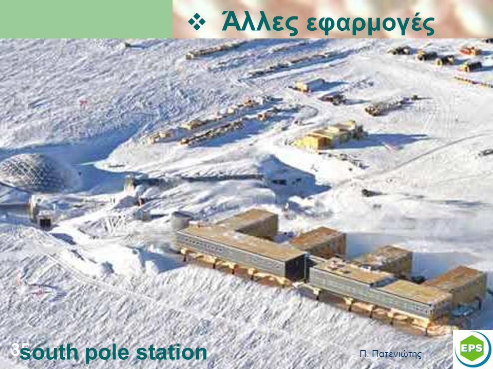 Π. Πατενιώτης 35  Άλλες εφαρμογές south pole station