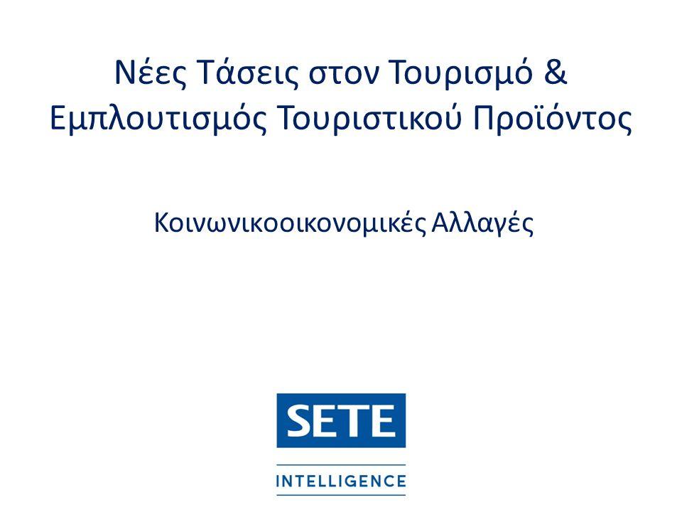 Νέες Τάσεις στον Τουρισμό & Εμπλουτισμός Τουριστικού Προϊόντος Κοινωνικοοικονομικές Αλλαγές