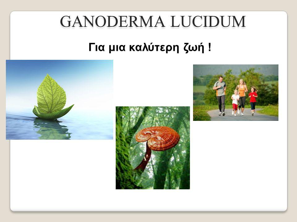 GANODERMA LUCIDUM Για μια καλύτερη ζωή !