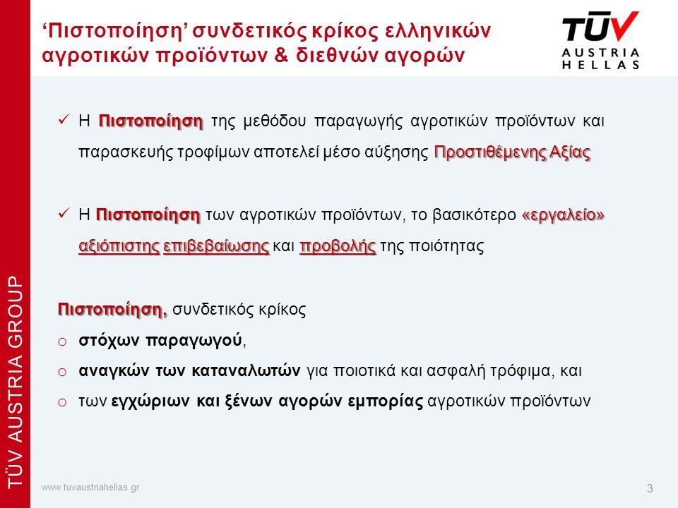 x www.tuvaustriahellas.gr TÜV AUSTRIA GROUP Συστήματα Διαχείρισης & Προϊόντα – ΑΓΡΟΔΙΑΤΡΟΦΙΚΟΣ ΤΟΜΕΑΣ 4 ΠΑΡΑΓΩΓΗ ΓΕΩΡΓΙΚΩΝ ΠΡΟΪΟΝΤΩΝ Βιολογικά Προϊόντα: Καν.