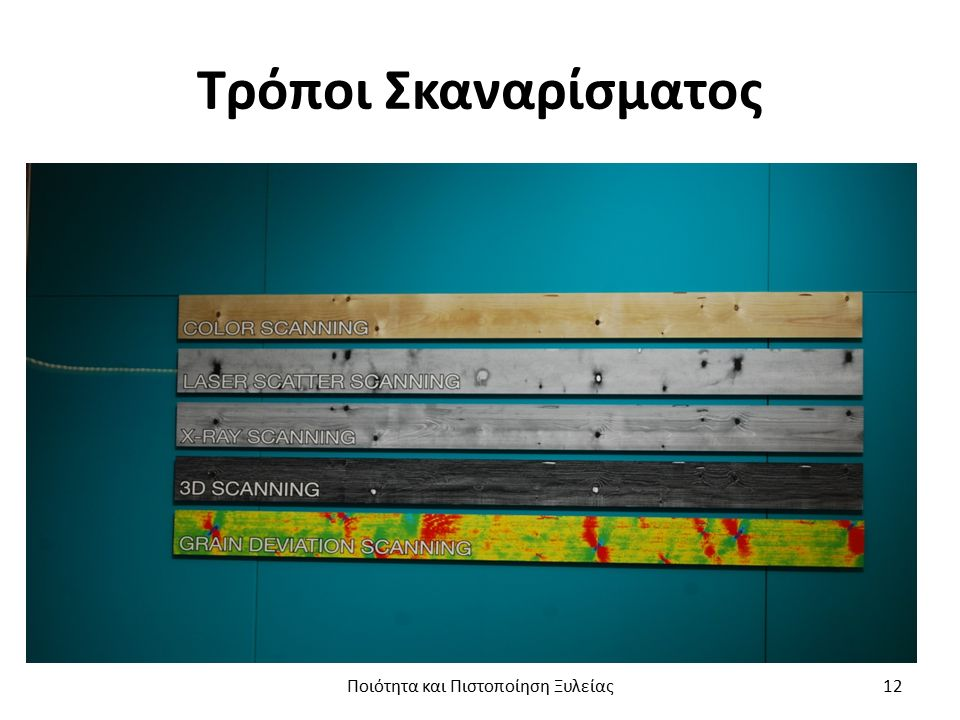 Φορητός εξοπλισμός για την ποιοτική ταξινόμηση της πριστής ξυλείας (1/2) Ποιότητα και Πιστοποίηση Ξυλείας13
