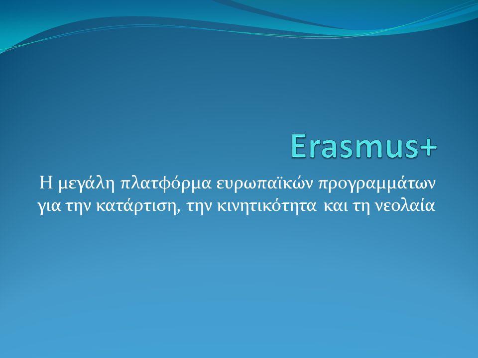 Αναζήτηση εταίρων Ένα από τα βασικά στάδια στο σχεδιασμό μιας πρότασης Erasmus+ είναι η αναζήτηση εταίρων.