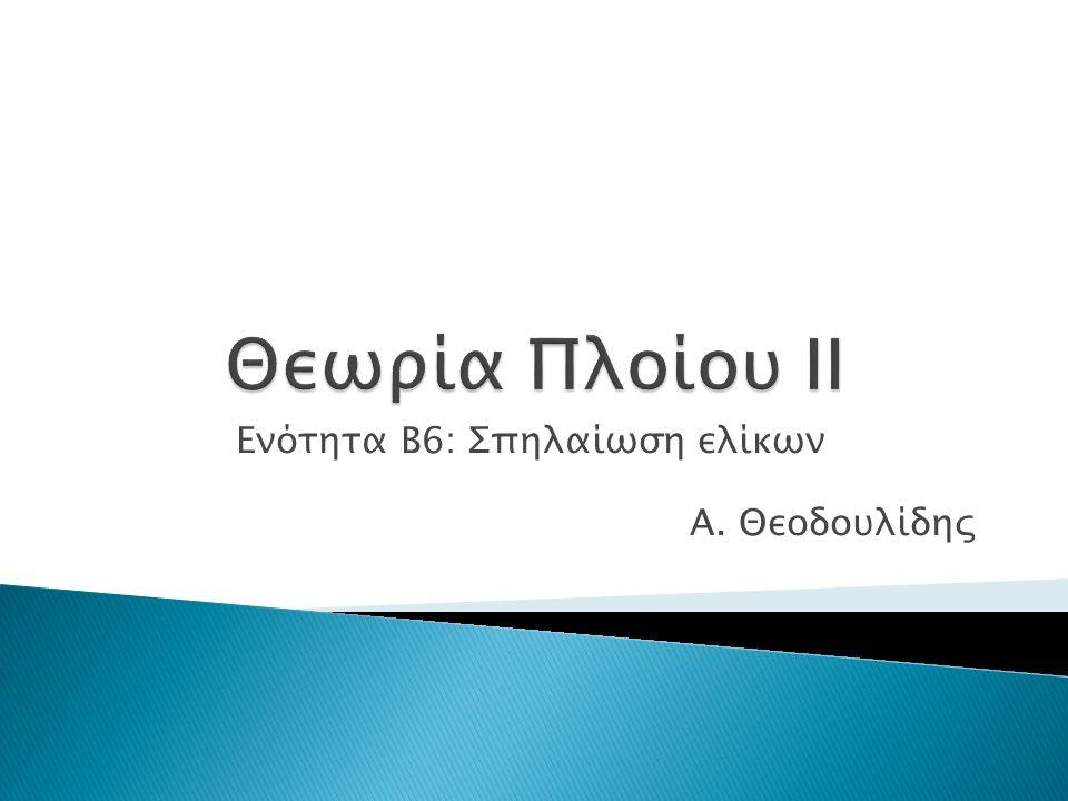 Ενότητα B6: Σπηλαίωση ελίκων Α. Θεοδουλίδης