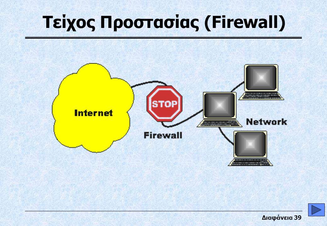 Διαφάνεια 39 Τείχος Προστασίας (Firewall)