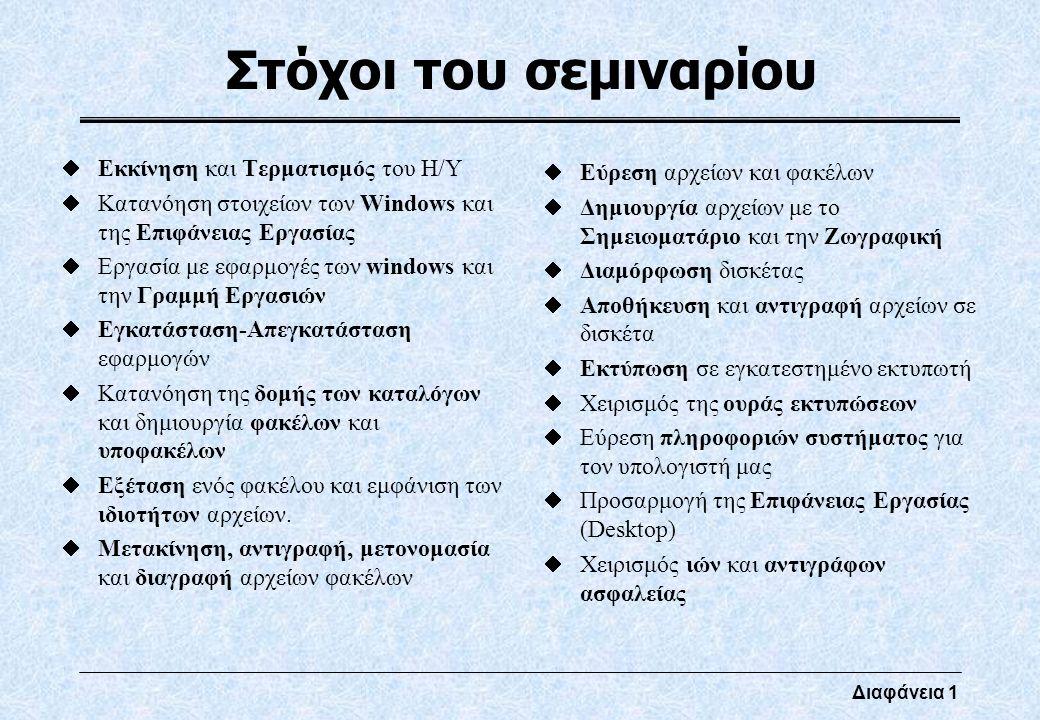 Διαφάνεια 12 Παράθυρα (Πλαίσια) Διαλόγου Καρτέλα Πλαίσιο επικύρωσης Πλαίσιο λίστας Κουμπιά εντολής