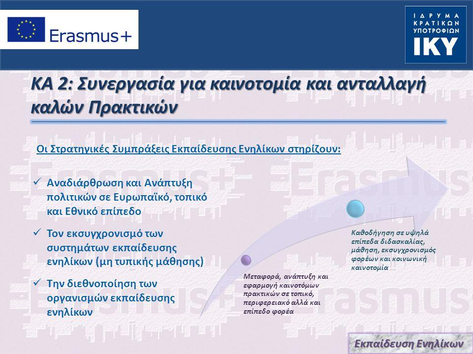 ΚΑ 2: Συνεργασία για καινοτομία και ανταλλαγή καλών Πρακτικών Αναδιάρθρωση και Ανάπτυξη πολιτικών σε Ευρωπαϊκό, τοπικό και Εθνικό επίπεδο Τον εκσυγχρο