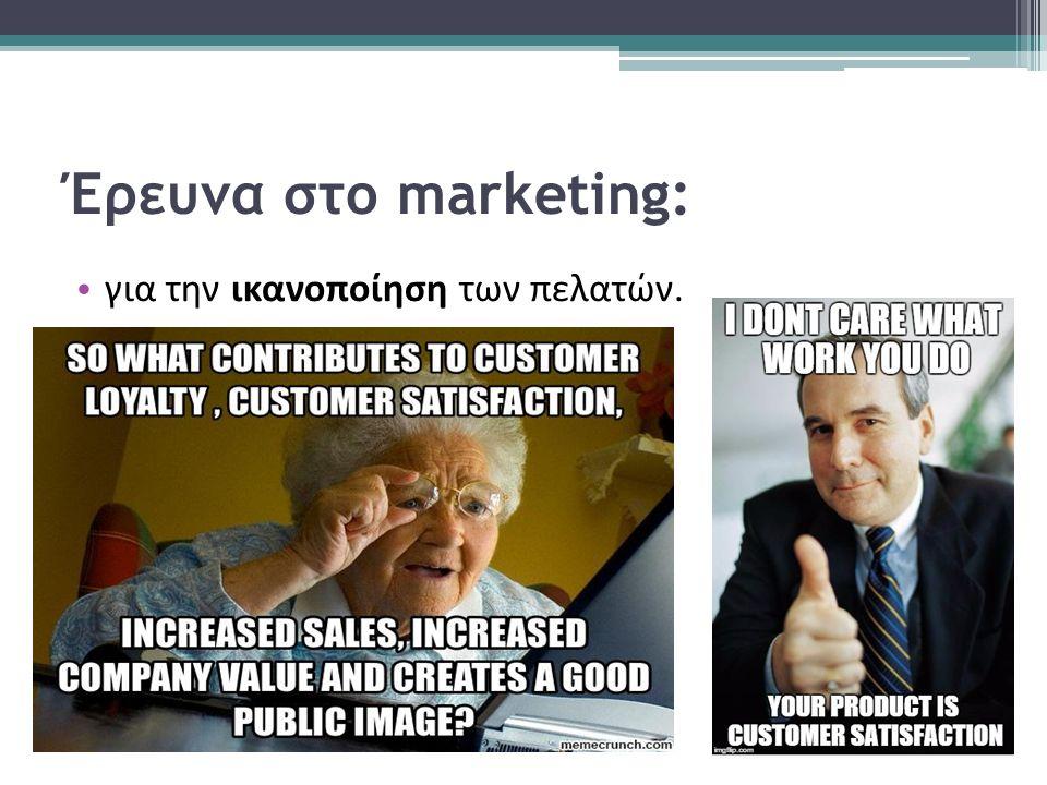 Έρευνα στο marketing: για την ικανοποίηση των πελατών.