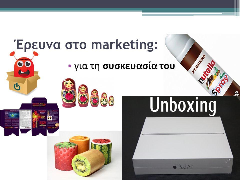 Έρευνα στο marketing: για τη συσκευασία του