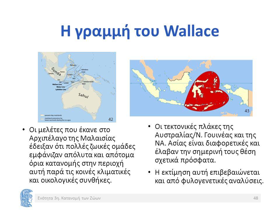 Η γραμμή του Wallace Οι τεκτονικές πλάκες της Αυστραλίας/Ν.