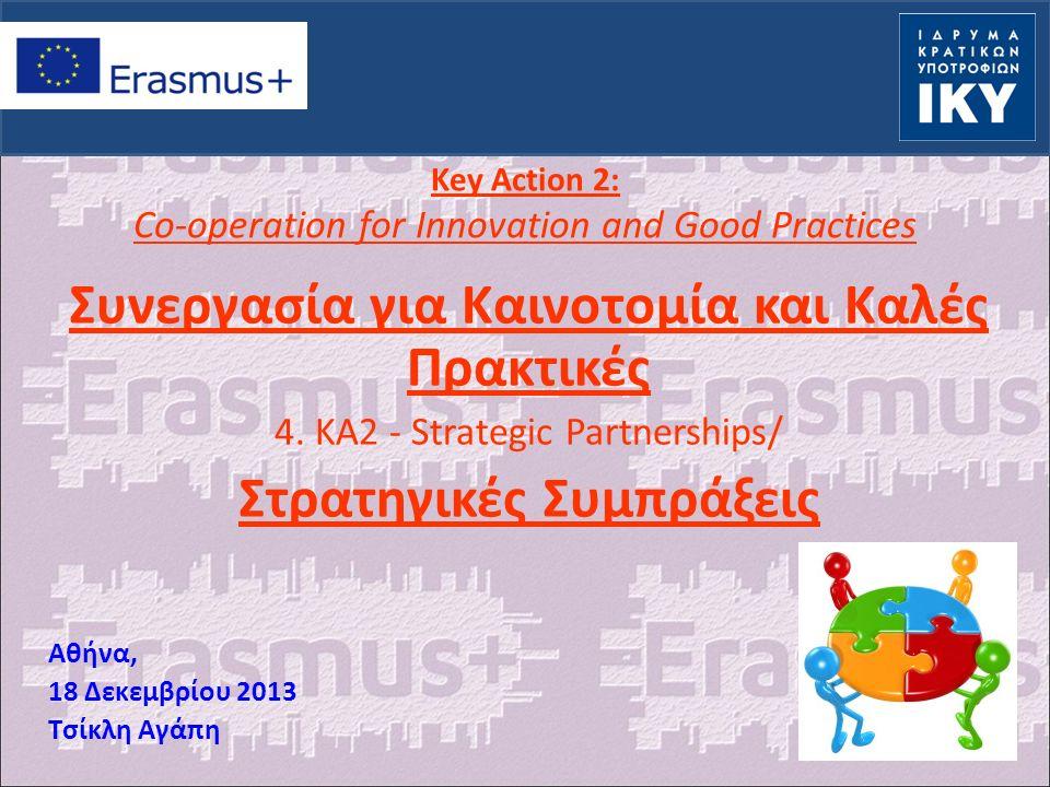 Μια νέα δράση που στηρίζεται στο παρελθόν: LLP: Εταιρικές Σχέσεις (+ Regio) Πολυμερή Σχέδια και Δίκτυα Μεταφορά/ Ανάπτυξη Καινοτομίας YiA 4.4 Καινοτομία και ποιότητα 4.5 Πληροφορία 1.2 Πρωτοβουλίες νέων