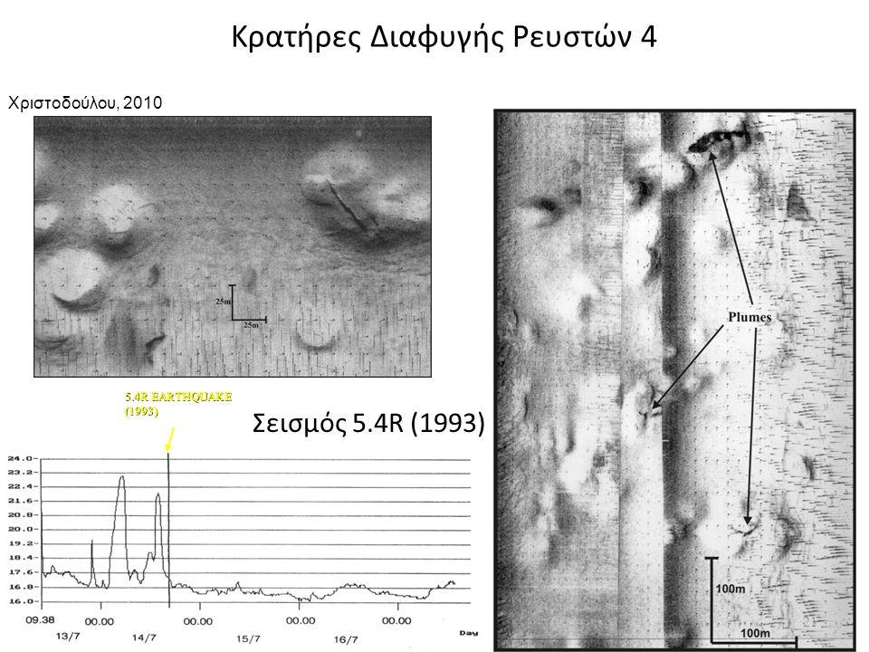 5.4R EARTHQUAKE (1993) Σεισμός 5.4R (1993) Κρατήρες Διαφυγής Ρευστών 4 21 Χριστοδούλου, 2010