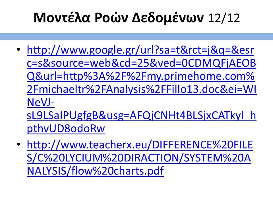 Μοντέλα Ροών Δεδομένων 12/12 http://www.google.gr/url?sa=t&rct=j&q=&esr c=s&source=web&cd=25&ved=0CDMQFjAEOB Q&url=http%3A%2F%2Fmy.primehome.com% 2Fmi