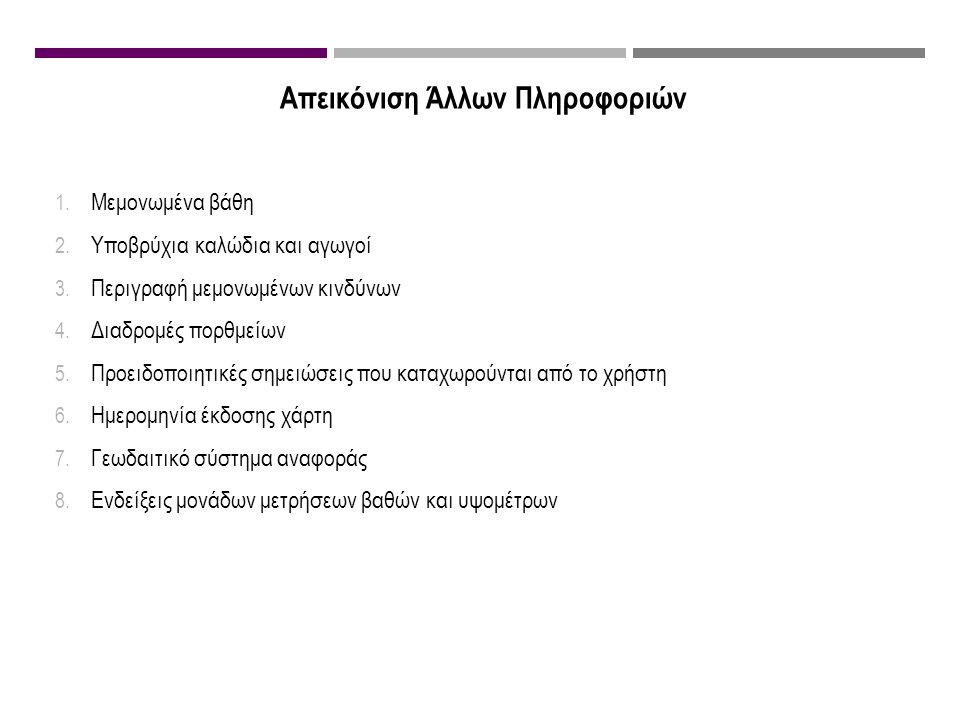 Απεικόνιση Άλλων Πληροφοριών 1. Μεμονωμένα βάθη 2.