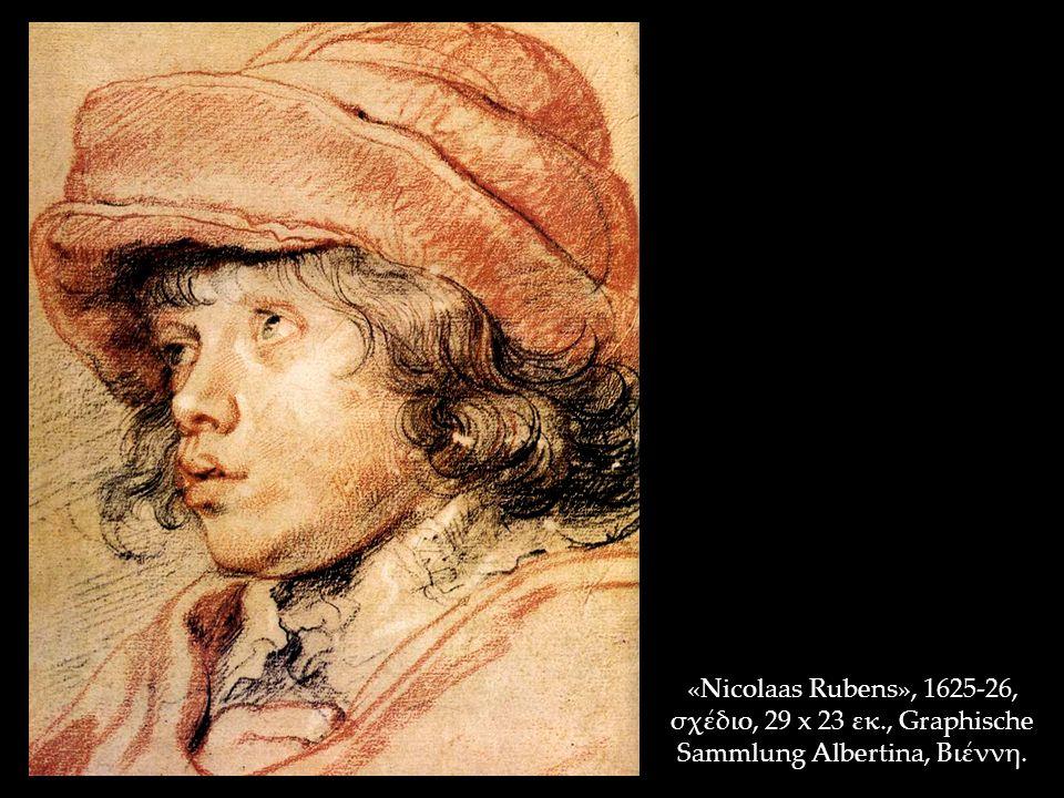 «Nicolaas Rubens», 1625-26, σχέδιο, 29 x 23 εκ., Graphische Sammlung Albertina, Βιέννη.